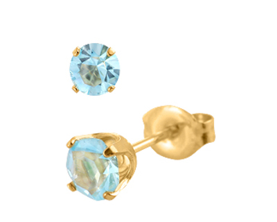 S38 Studex Sensitive divat fülbevaló, 5mm Aquamarine
