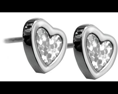 S94 Studex Sensitive divat fülbevaló, szív, gyöngyház betéttel