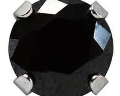 7552-0160 Studex Sensitive köves fülbevaló, fekete