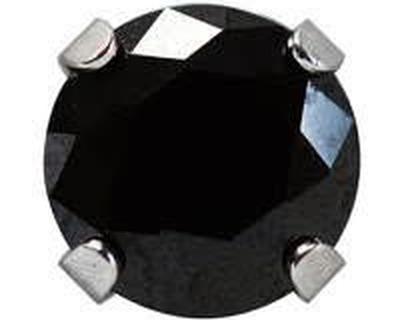 7592-0160 Studex Sensitive köves fülbevaló, fekete