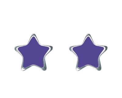 S132 Studex Senstive csillag fülbevaló, lila